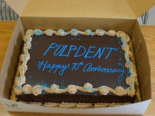 Pulpdent 70th Anniversary Cake